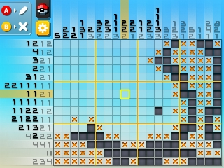 Pokémon Picross: Like previous games, puzzles vary in size.
