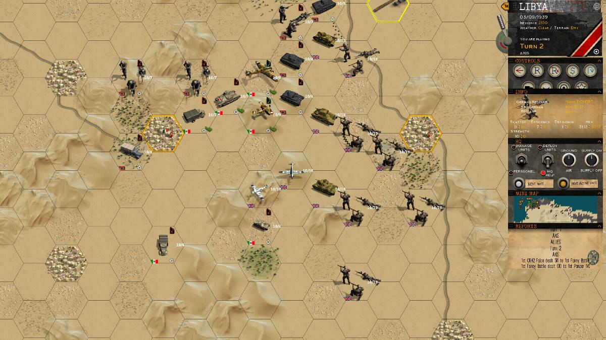 Klotzen! Panzer Battles Desert Setting
