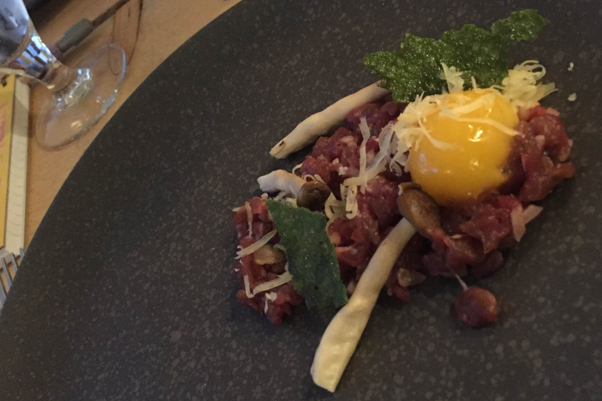 House of Feasts Aged Beef Tartare