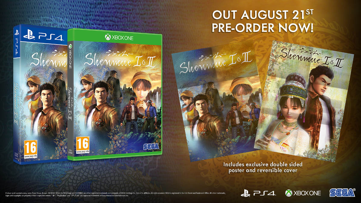 Shenmue 1 and 2 Is Coming to Xbox One, PS4 and PC in August 2018