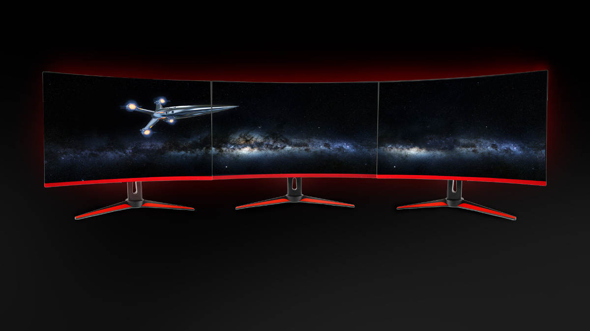 New HG Gaming Monitors From Hannspree - Multi Screen Gaming