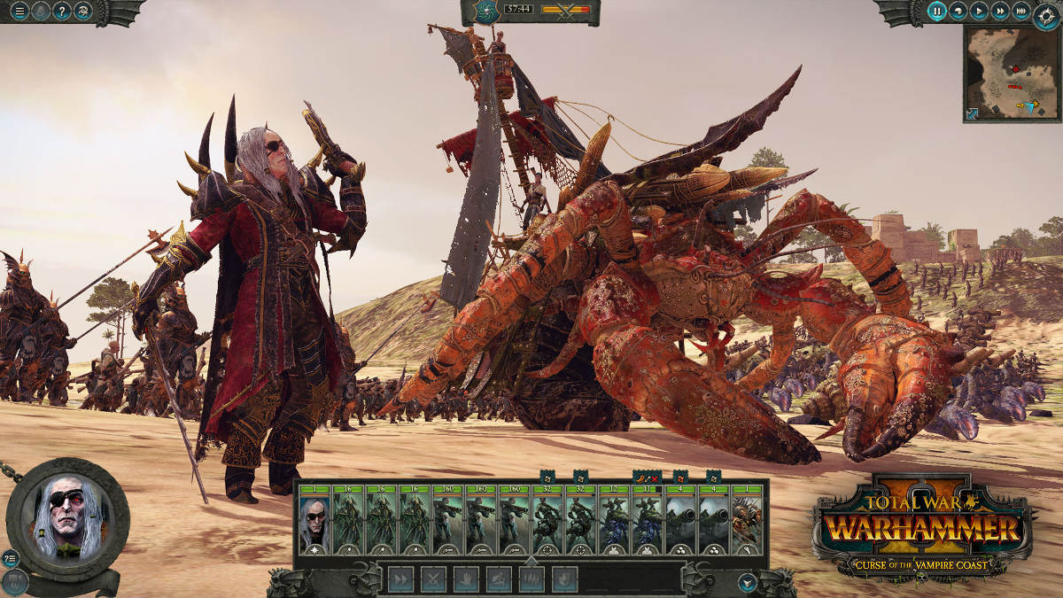 Curse Of The Vampire Coast Comes To Total War Warhammer II - Luthor Harkon Battle